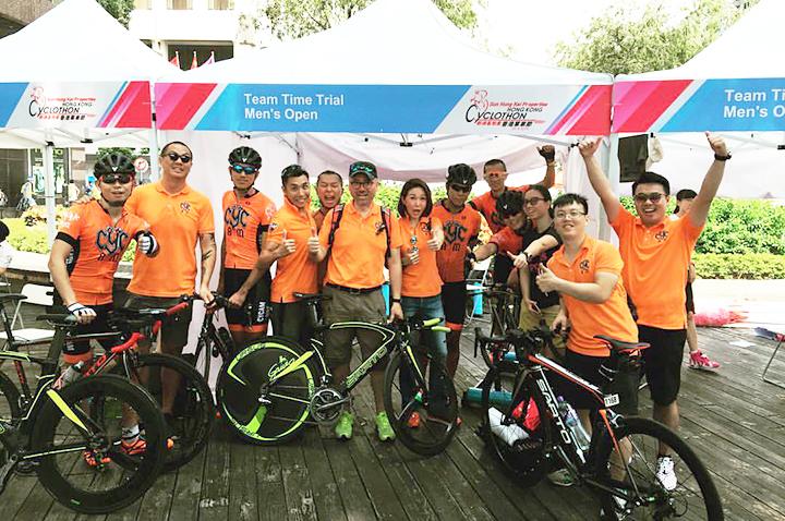 CYCAM Bike race team in  HK Cyclothon 2016